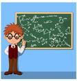 Cartoon smart boy vector image vector image