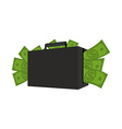 Case with money Suitcase full of dollars Cash in vector image vector image