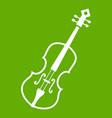 cello icon green vector image