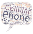 Cellular Phones And Accessories text background vector image vector image