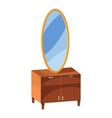 Chest of drawers with mirror icon cartoon style vector image vector image