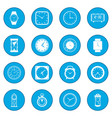 clocks icon blue vector image vector image
