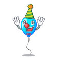 clown blue balloon bunch design on cartoon vector image