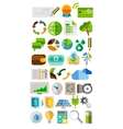 Collection of trendy flat color icons vector image