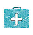 color pencil drawing of symbol of first aid kit vector image vector image