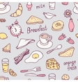 Cute hand drawn breakfast seamless pattern vector image