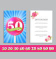 cute template set of anniversary celebration vector image vector image