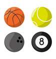 differents balls to sport game competition vector image vector image