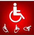 Disabled icon set Isometric effect vector image