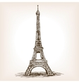 Eiffel Tower hand drawn sketch style vector image