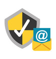 email shield protection check mark data security vector image vector image