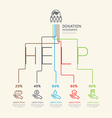 flat linear infographic charity and donation vector image vector image