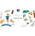 flat travel colorful concept vector image