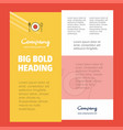 food business company poster template with place vector image vector image