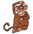 funny monkey animal character cartoon vector image vector image