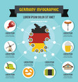 germany infographic concept flat style vector image vector image