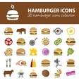 hamburger icons vector image vector image