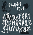 hand drawn grunge font paint symbol design vector image