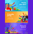 happy new year fireworks festival and party vector image vector image