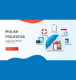 house insurance concept schedule calculation vector image vector image