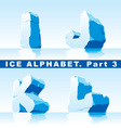 ice alphabet part 3 vector image vector image