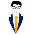 Icon men in suit vector image vector image