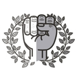 Isolated fist hand design vector image vector image