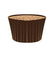 isolated muffin icon vector image vector image