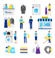 Laundry Service Set vector image vector image