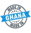 made in Ghana blue round vintage stamp vector image vector image