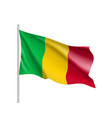 mali realistic flag vector image vector image