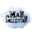 man collection grunge decorative 3d lettering vector image