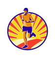 Marathon runner athlete running vector | Price: 1 Credit (USD $1)