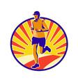Marathon Runner Athlete Running vector image vector image