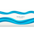 marine pattern with stylized blue waves on a light vector image vector image