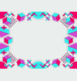 memphis style frame geometric objects of the 80s vector image vector image