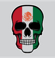 mexico flag head skull vector image vector image