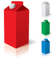 Milk carton vector image