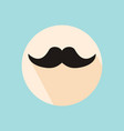 mustache hipster symbol flat style with long vector image