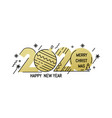 new year emblem 2020 number design vector image vector image