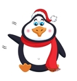 New Years kind cheerful cute penguin welcomes vector image vector image