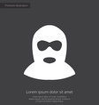 offender premium icon white on dark background vector image vector image