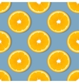 Orange slice fruit seamless pattern Citrus vector image