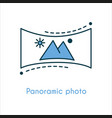 panoramic photo flat line icon vector image