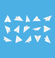paper plane origami airplane white isometric icon vector image vector image
