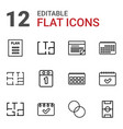 plan icons vector image vector image