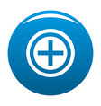 plus icon blue vector image