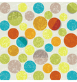 retro circle pattern background vector image vector image