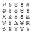 robotic line icons vector image