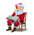 santa claus reading the book vector image